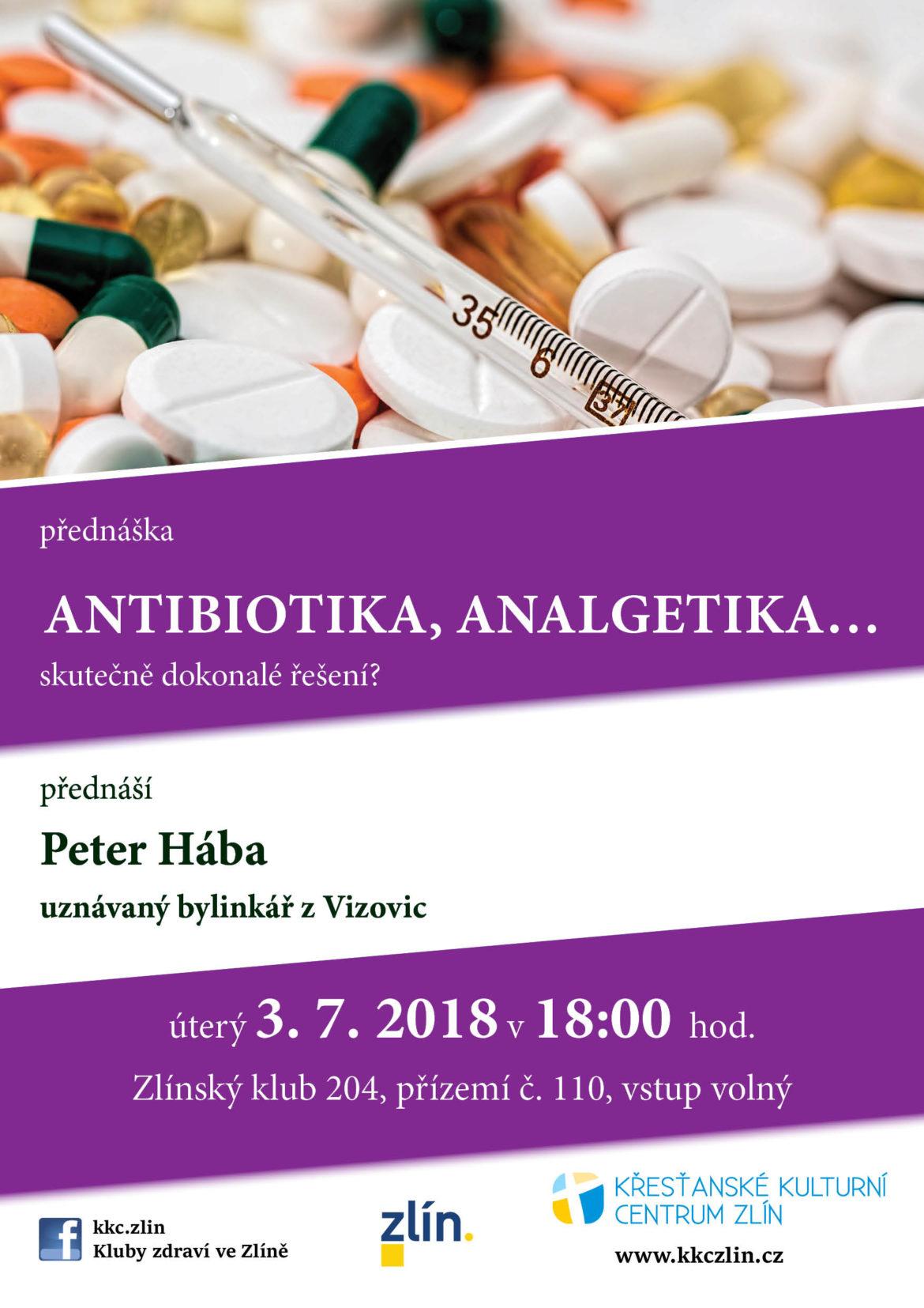 Antibiotika, analgetika…skutečně dokonalé řešení? Peter Hába