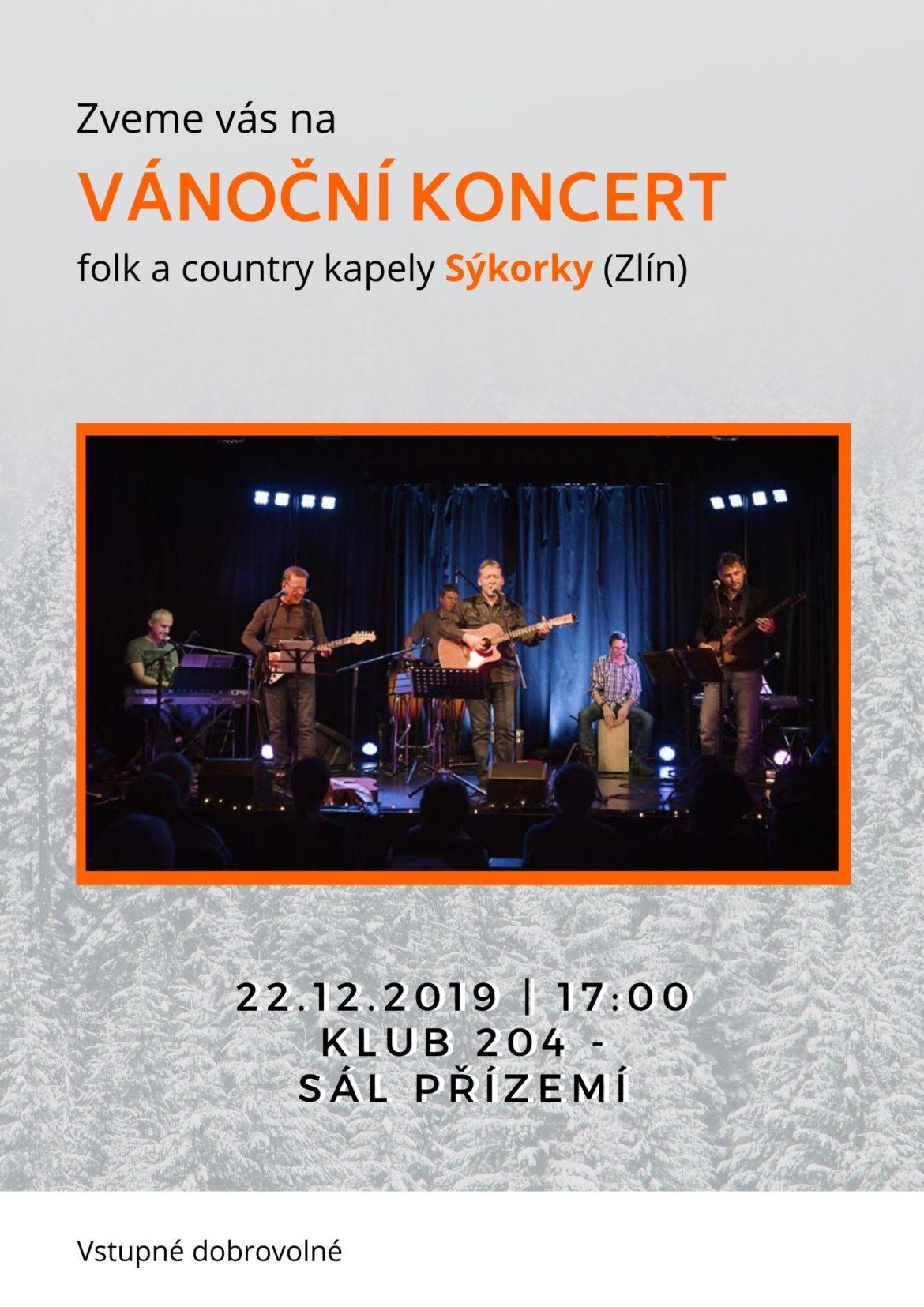 Vánoční koncert country kapely SÝKORKY